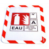 Tarifold Magneto A4 Safety Frames Adhesive Red/White PK2