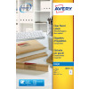 Avery Clear I/Jet Labels 63.5x38.1 21/Sheet