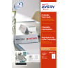 Avery Printable Tent Cards 210x60mm White L4796-20 (20Cards)