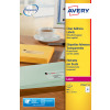 Avery Clear Laser Labels 99x34mm L7562-25 (400 Labels)