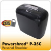Fellowes Black Power shred P-35C Cross-Cut Shredder 3213601