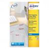Avery White Mini Inkjet Labels 25x10mm J8658-25 (4725Labels)