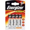 Energizer Ultra+ Battery AA/LR6 PK4