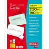 Decadry TopLine White Straight Corner Business Cards PK150
