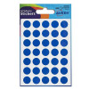 Avery Coloured Label Round 12mm DIA Blue (245 Labels)  PK10