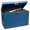 Value Cathedral Metal File Box A4 Blue