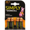 Duracell AA SIMPLY Batteries PK4
