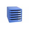 Exacompta Multiform A4+ Big Box Plus 5-Drawer Set Ice Blue