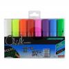 Uni Chalk Marker Chisel Tip Broad Assorted PK8