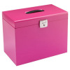 Value Cathedral Metal File Box A4 Pink