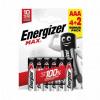 Energizer MAX Batteries E92/AAA PK4 Plus 2
