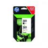HP N9J72AE 301 2 Pack Black Tri Colour Cartridge