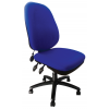 Carlisle Pump Up Lumbar Operator Chair Blue