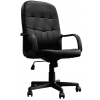 Orion High Back Leather Faced Managers Chair Black
