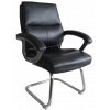 Greenwich Pu Visitors Chair Black