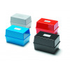 Value Value Deflecto Card Index Box 5x3 Blue CP010YTBLU