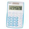 Genie 120B Pocket Calculator 8 Digit Blue