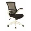 Eliza Tinsley Luna Designer Mesh Chair Folding Arms White