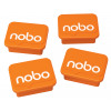 Nobo Whiteboard Magnets Orange PK4