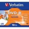 Verbatim DVD-R 16X 10 Pack Jewel Case Printable