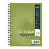 Cambridge Recycled A5 Plus Wirebound Notebook 200 Pages Pack of 3 100080106