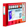 Elba Vision 30mm 4D-Ring Binder Oblong A3 Red 100080866