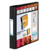 Elba Vision Ring Binder PVC Clear Front Pocket 2 O-Ring 25mm A5 Black Ref 100080885