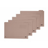 Elba Economy Tabbed Folders Recycled Manilla 170gsm Set of 5 Foolscap Buff Ref 100090124 [Pack 20]