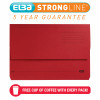 Elba Strongline Document Wallet Bright Manilla Foolscap Bordeaux (Pack of 25) 100090139
