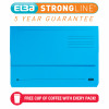 Elba Strongline Foolscap Blue Document Wallet (Pack of 25) 100090140