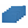 Elba Foolscap Blue Midweight Tabbed Folder Pack of 100 100090234