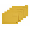Elba Foolscap Yellow Midweight Tabbed Folder Pack of 100 100090237