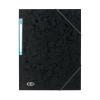 Elba Eurofolio Folder Elasticated 3-Flap 450gsm A4 Black Ref 100200987 [Pack 10]