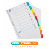 Concord Index 1-10 Mylar-reinforced Multicolour-Tabs Punched 4 Holes 150gsm A4 White Ref CS4
