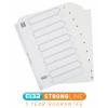 Initiative White Board A4 160gsm Divider 1-10 Mylar Tab