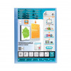 Elba Polyvision Display Book Polypropylene 20 Pockets A4 Blue Ref 100206087