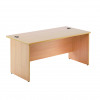 Jemini Oak 1600mm Panel End Rectangular Desk KF838088