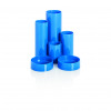 Basic Desk Tidy with 6 Compartment Tubes Blue
