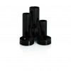 Basic Desk Tidy with 6 Compartment Tubes Black