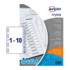 Avery Mylar Numeric Divider Bright White 1-10 A4