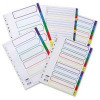 Concord Multicoloured 1-5 Numeric Index Mylar Tabs A4 Coloured