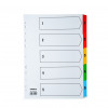 Initiative White Board A4 160gsm Divider 1-5 Coloured Mylar Tab