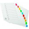 Initiative White Board A4 160gsm Divider 1-10 Coloured Mylar Tab