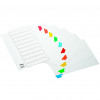 Initiative White Board A4 160gsm Divider 10 Part Coloured Mylar Tab