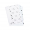 Initiative White Board A4 160gsm Divider 1-5 Mylar Tab