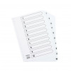 A4 White 1-10 Mylar Index (Mylar reinforced tabs and holes for durability) WX10528