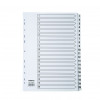 5 Star Office Index 1-20 Multipunched Mylar-reinforced Strip Tabs 150gsm A4 White