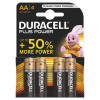Duracell Duralock Plus Power Batteries AA Pack 4