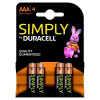 Duracell Simply Batteries AA MN1500 Pack 4