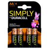 Duracell Simply Batteries AAA MN2400 Pk4